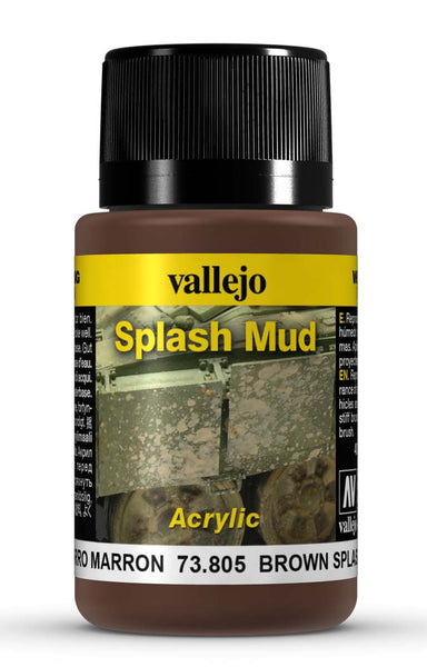 VALLEJO WEATHERING EFFECTS BROWN SPLASH MUD 40 ML