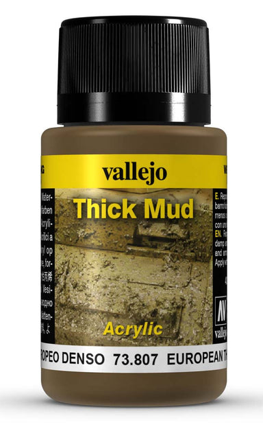 VALLEJO WEATHERING EFFECTS EUROPEAN THICK MUD 40 ML