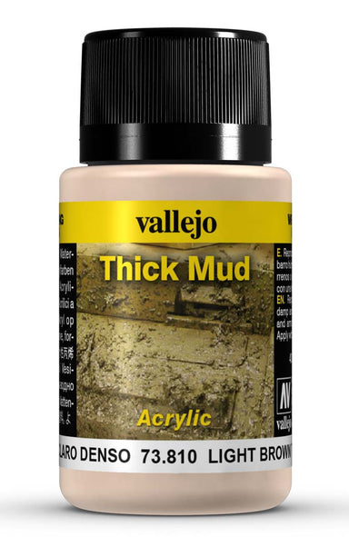 VALLEJO WEATHERING EFFECTS LIGHT BROWN THICK MUD 40 ML