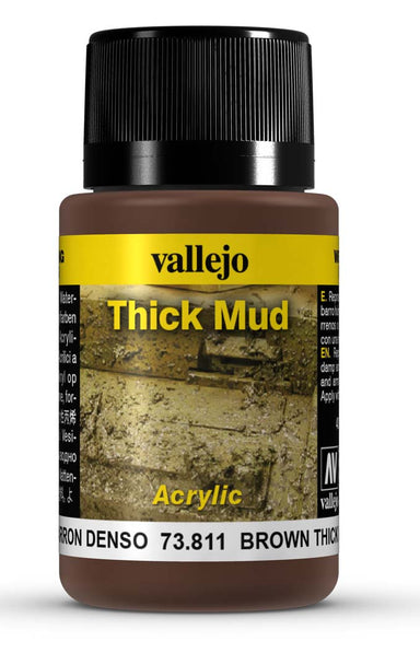 VALLEJO WEATHERING EFFECTS BROWN THICK MUD 40 ML