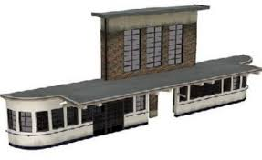 BACHMANN OO SCENECRAFT LOW RELIEF ART DECO STATION