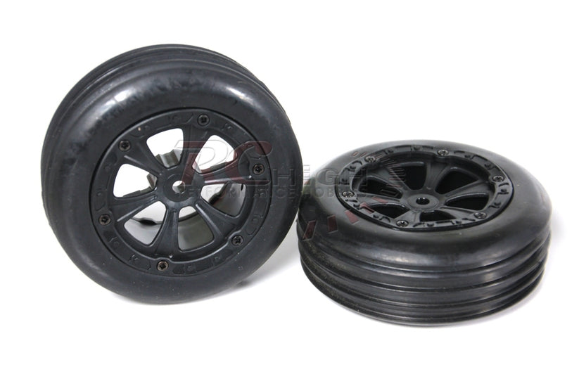 BSD BS709-001 2WD BUGGY FRONT TIRES PRE MOUNTED 2