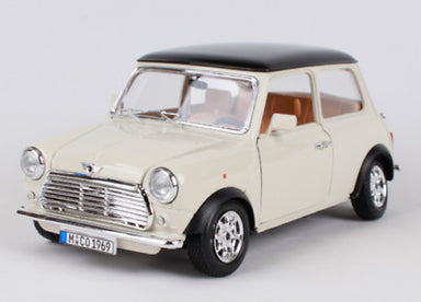 Bburago 1/18 1969 Mini Cooper Beige with Black Roof