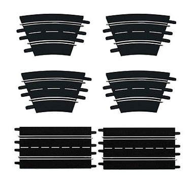CARRERA EVO/DIGITAL EXTENSION TRACK SET (6PC)