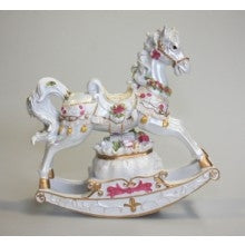 COTTON CANDY ROSE MUSICAL ROCKING HORSE