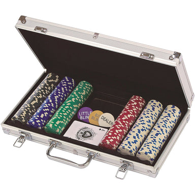 CARDINAL GAMES 11.5G 300PCS POKER CHIP SET IN ALLOY CASE