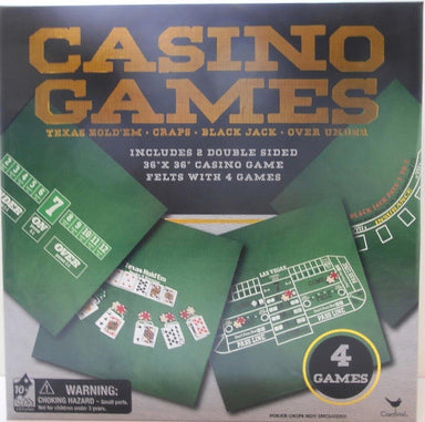 CASINO GAMES - TEXAS HOLDEM, CRAPS, BLACK JACK AND OVER UNDER