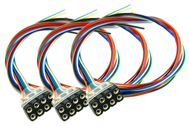 Dcc Concepts Decoder Harness 8 Pin Female (200mm) (3 Pack)