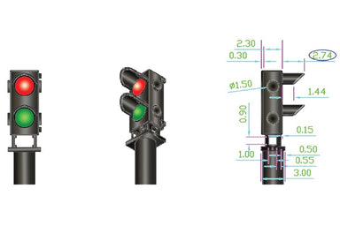 Dcc Concepts 12x 2-wire Red/Green Ground Signal