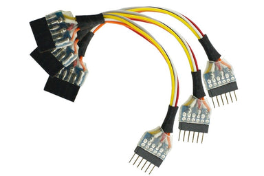 Dcc Concepts NEM651 6 Pin Plug to 6 Pin Socket Harness (3 Pack)