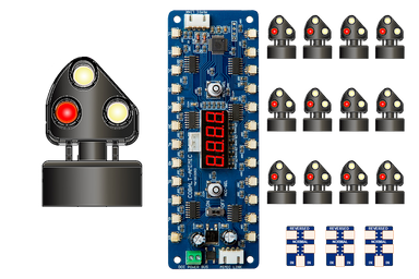Dcc Concepts ALPHA MIMIC 12x STEAM Era 3-light Ground Signal