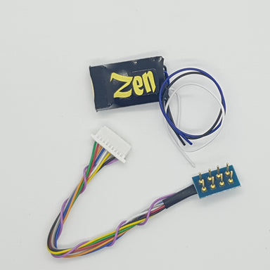 DCC Concepts Zen Black 4 Function Decoder W/8 Pin Harness