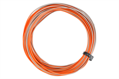 Dcc Concepts TWIN Decoder Wire Stranded 6m (32g) Orange/Grey