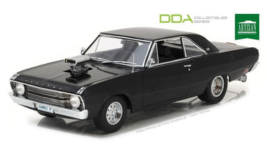 GREENLIGHT 1/18 1969 CHRYSLER VF VALIANT DRAG GLOSS BLACK W/TUNNEL RAM (OPENING FRONT DOORS)
