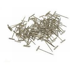 DUBRO 254 NICKEL PLATED T-PINS LARGE 1 1/2 LONG 100
