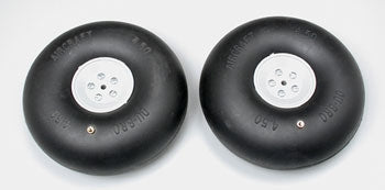 DU-BRO 450RV 4.5 inch PNEUMATIC WHEELS 2PCS