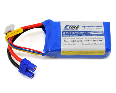 E-Flite 1300mah 3S 20C LiPo Battery EC3 Connector