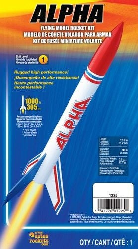 ESTES 1225 ALPHA ROCKET SKILL LEVEL 1