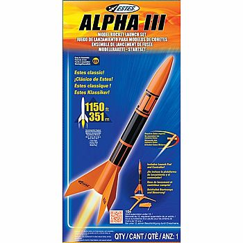 ESTES 1427X LAUNCH SET ALPHA III NO ENGINE