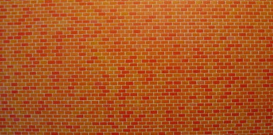 FALLER 170608 HO WALL CARD RED BRICK