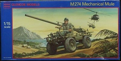 Glencoe Models 1/15 M-274 Mechanical Mule Plastic Kit