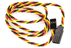 Extension wire twisted JR/Hitec, 22AWG, 60cm 1pc