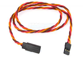 Extension wire HD silicon twisted JR/Hitec, 22AWG, 50cm 1pc