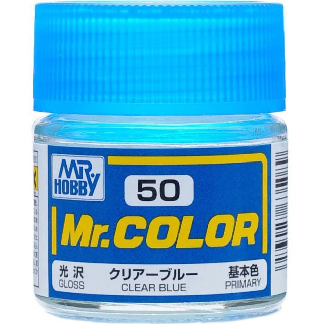 MR HOBBY MR COLOR 50 GLOSS CLEAR BLUE