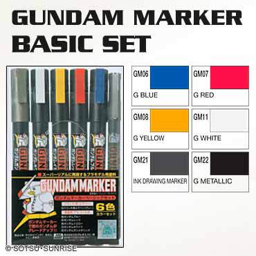 MR HOBBY GMS105 GUNDAM MARKER BASIC SET