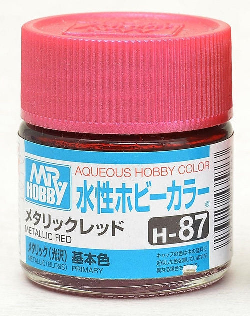 MR HOBBY AQUEOUS 87 METALLIC GLOSS RED ACRYLIC