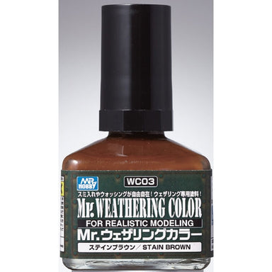 MR HOBBY WC03 MR WEATHERING COLOUR STAIN BROWN