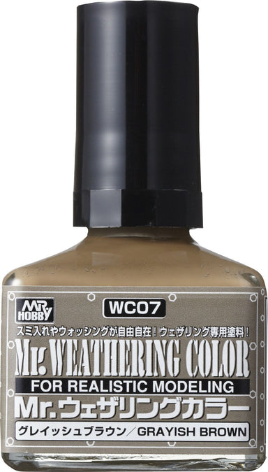 MR HOBBY WC07 MR WEATHERING COLOUR GRAYISH BROWN