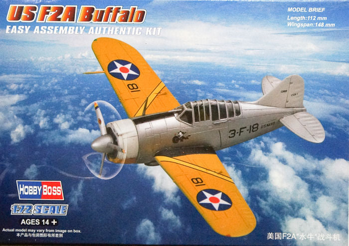 HOBBY BOSS 1/72 US F2A BUFFALO
