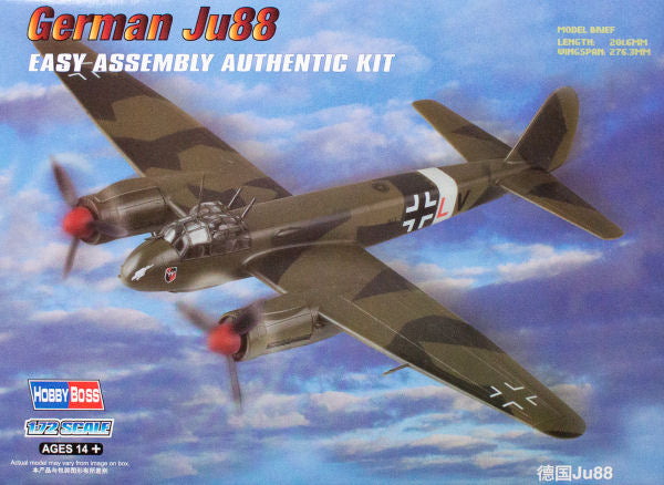 HOBBY BOSS 1/72 GERMAN JU88 FIGHTER