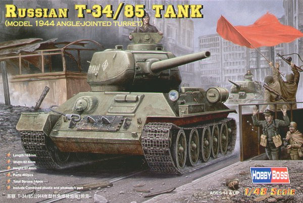 HOBBY BOSS 1/48 RUSSIANT-34/85(1944 ANGLE-JOINTED