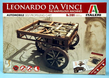 ITALERI LEONARDO DA VINCI SELF PROPELLING CART PLASTIC MODEL KIT