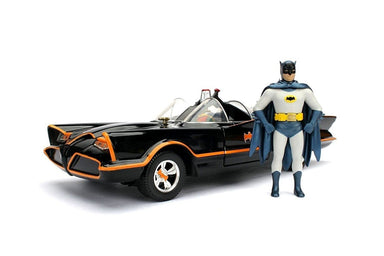 JADA 1/24 1966 CLASSIC TV SERIES BATMOBILE AND BATMAN
