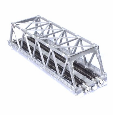 Kato N Double-Track Truss Bridge - 9-3/4in 24.8cm (silver)