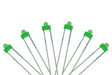 DCC Concepts Led Panel Dot Type 1.8mm (W/Resistors) Green (6)