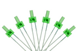 DCC Concepts Led Tower Type 2mm (W/Resistors) Green (6)