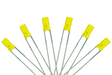Dcc Concepts Flat Front Type 6x 3mm (w/Resistors) Signal Yellow