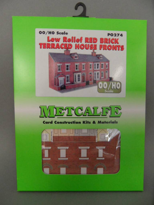 Metcalfe P0274 Oo/Ho Low Relief Brick Terraced House Fronts