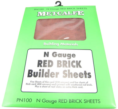 METCALFE PN105 N RED BRICK SHEETS