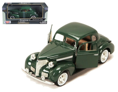 MOTOR MAX 1/24 1939 CHEV COUPE DARK GREEN
