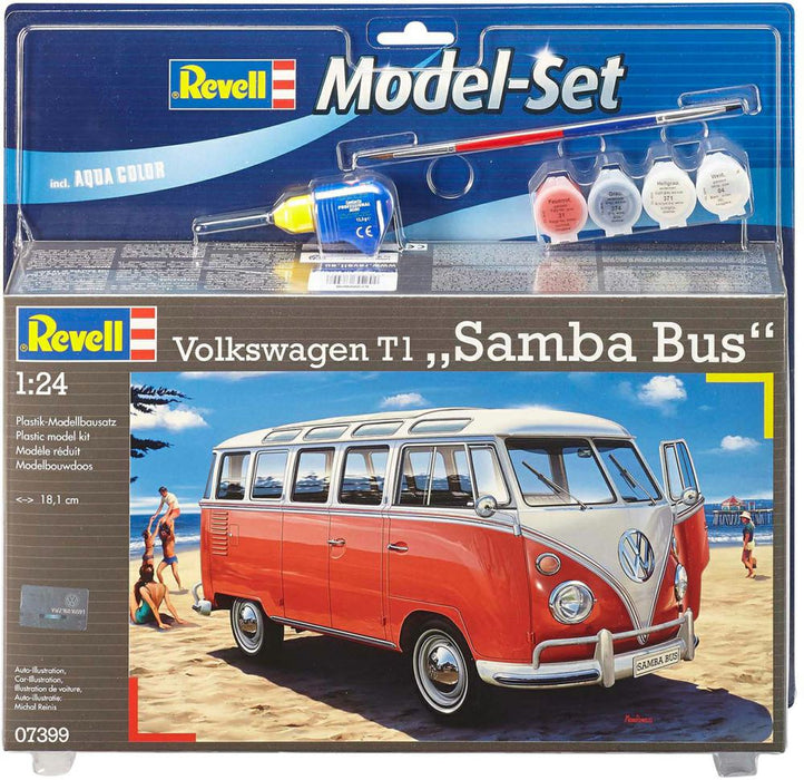 Revell 1/24 Vw T1 Samba Bus Starter Set