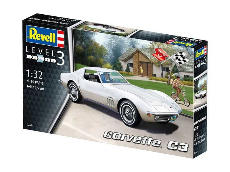 REVELL 1/24 CORVETTE C3 MODEL SET