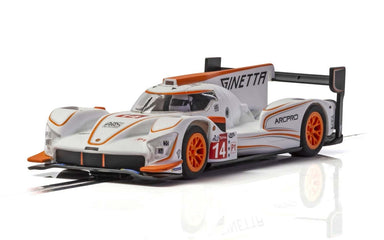 SCALEXTRIC 4061 GINETTA G60-LT-P1 NO 14 WHITE & ORANGE NEW TOOLING 2019