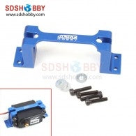 6STAR 1 PIECE ALLOY SERVO MOUNT BLUE 1PC