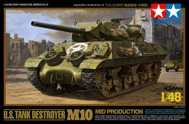 TAMIYA 1/48 US TANK DESTROYER M10 MID PRODUCTION