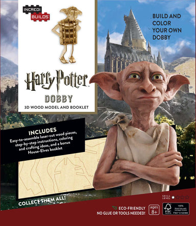 INCREDIBUILDS HARRY POTTER DOBBY 3D WOOD MODEL W/BOOK